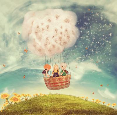 Naklejka Magiczny balon