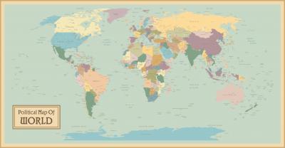 Naklejka Mapa polityczna