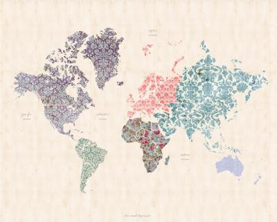 Naklejka Ornament mapa
