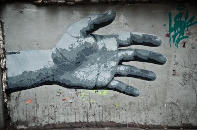 Fototapeta Graffiti hand