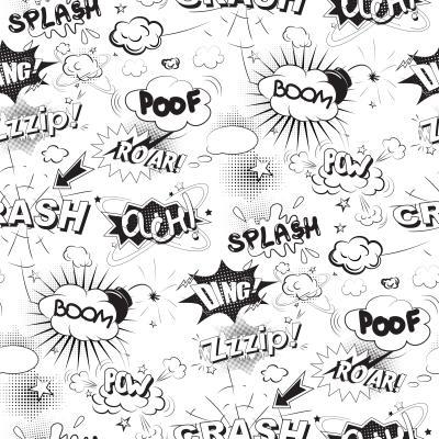 Fototapeta Komiks dymki w stylu pop-art
