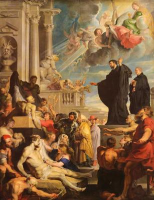 Obraz Painting depicting The miracles of St. Francis Xavier