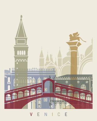 Plakat Venice skyline poster in editable file