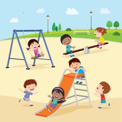 Fototapeta Kids at the playground