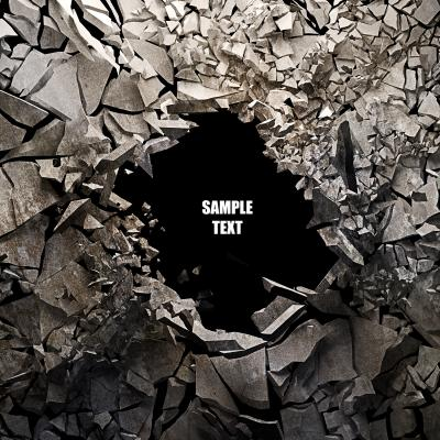 Fototapeta Cracked earth abstract background High resolution 3d render