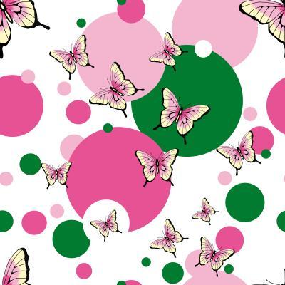 Fototapeta Butterflies Seamless Vector Pattern
