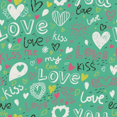 Tapeta Romantic seamless pattern