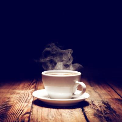 Obraz Hot coffee and smoke