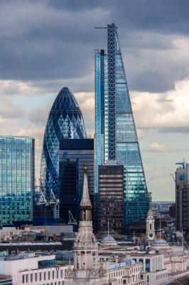 Fototapeta The City of London skyscrapers