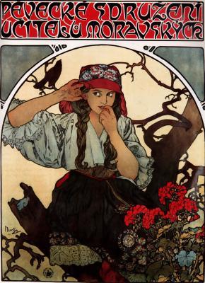 Obraz Alfons Mucha -  Morawski chór nauczycieli