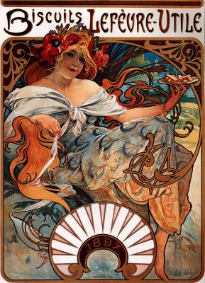 Obraz Alfons Mucha - Biscuits Lefèvre-Utile