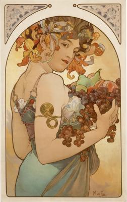 Obraz Alfons Mucha - Owoce