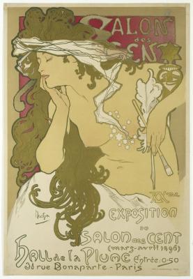 Obraz Alfons Mucha - Salon des Cent