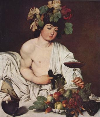 Obraz Caravaggio - Bachus