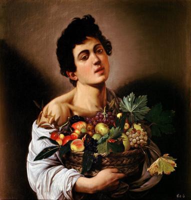 Obraz Caravaggio - Chłopiec z koszem owoców