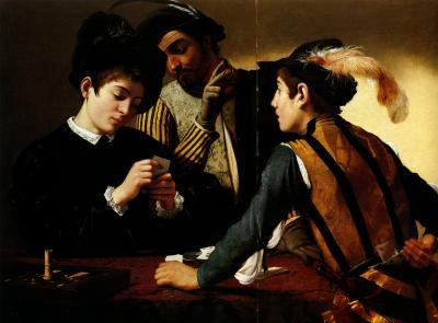 Obraz Caravaggio - Grający w karty