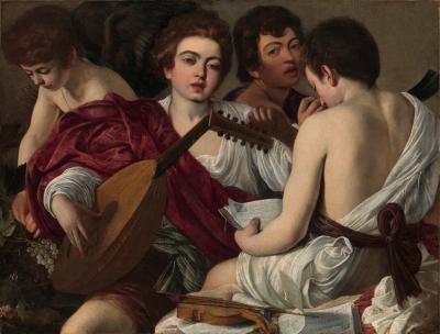 Obraz Caravaggio - Koncert