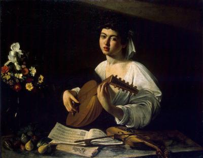 Obraz Caravaggio - Lutnista