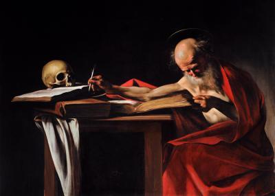 Obraz Caravaggio - Święty Hieronim