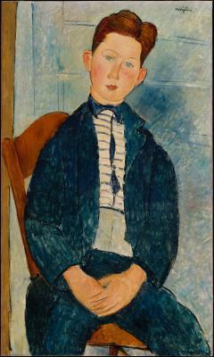 Obraz Amedeo Modigliani - Chłopiec w pasiastym swetrze