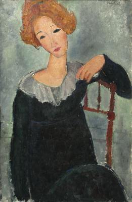 Obraz Amedeo Modigliani - Kobieta z rudymi włosami