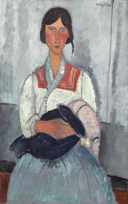 Obraz Amedeo Modilgliani - Cyganka z dzieckiem