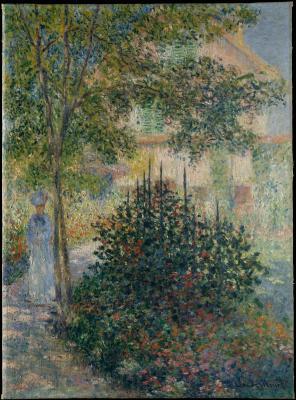 Obraz Claude Monet - Camille Monet w ogrodzie Argenteuil