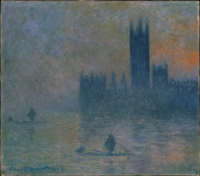 Obraz Claude Monet - Budynek Parlamentu w Londynie II
