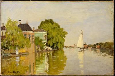 Obraz Claude Monet - Domy nad Achterzaan