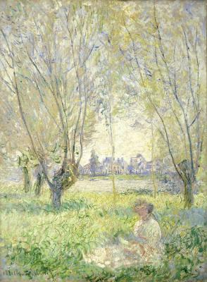 Obraz Claude Monet - Kobieta siedząca pod wierzbą