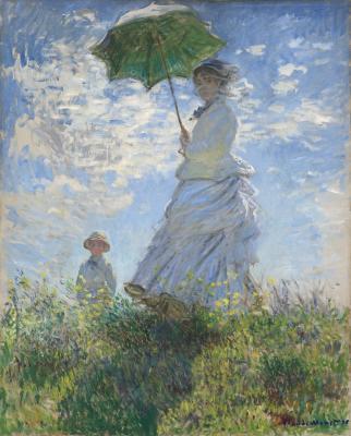 Obraz Claude Monet - Kobieta z parasolem