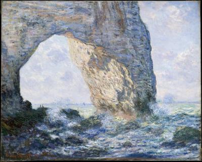 Obraz Claude Monet - Łuk Manneporte (Étretat)