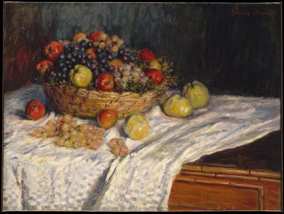 Obraz Claude Monet - Martwa natura z jabłkami i winogronem