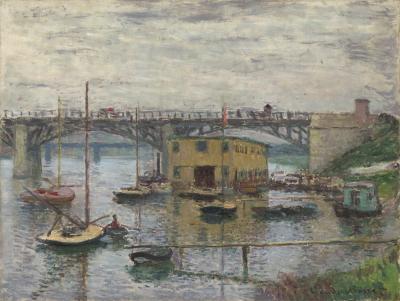 Obraz Claude Monet - Most w Argenteuil w pochmurny dzień