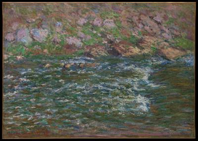 Obraz Claude Monet - Nurt rzeki Petite Creuse we Fresselines