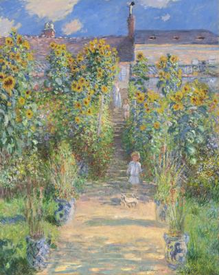 Obraz Claude Monet - Ogród artysty w Vétheuil