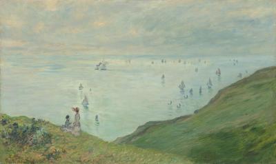 Obraz Claude Monet - Spacer po klifie w Pourville