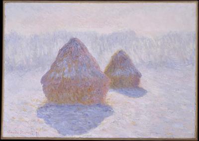 Obraz Claude Monet - Stogi siana. Efekt śniegu i słońca