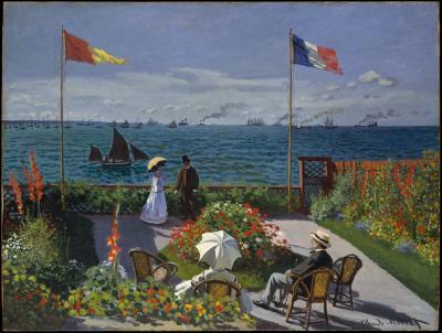 Obraz Claude Monet - Taras nad morzem w Saint Adresse