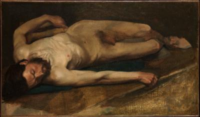 Obraz Edgar Degas - Akt męski