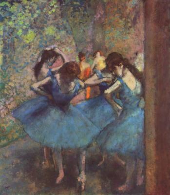 Obraz Edgar Degas - Błękitne tancerki