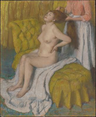Edgar degas - czesząca się kobieta