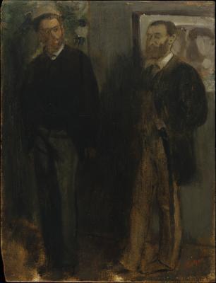Obraz Edgar Degas - Dwóch mężczyzn
