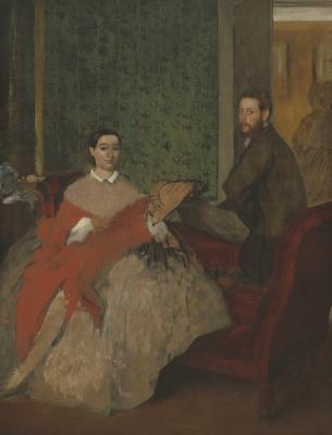 Obraz Edgar Degas - Edmondo i Thérèse