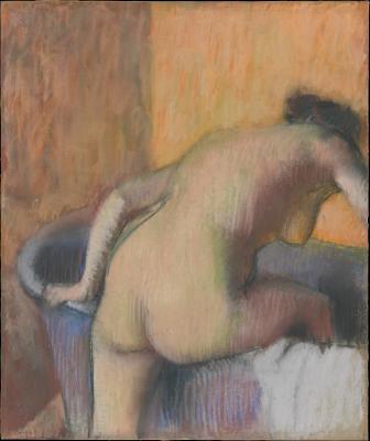 Obraz Edgar Degas - Kąpiąca się kobieta, wchodząca do wanny