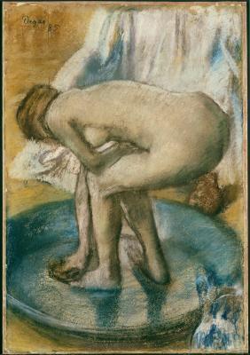 Obraz Edgar Degas - Kąpiąca się kobieta