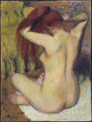 Obraz Edgar Degas - Kobieta czesząca włosy