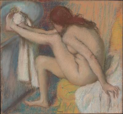 Obraz Edgar Degas - Kobieta myjąca stopy