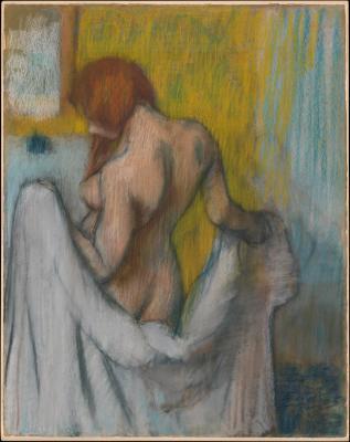 Obraz Edgar Degas - Kobieta z ręcznikiem