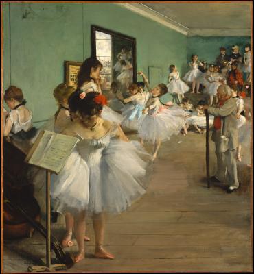Edgar degas - lekcja baletu